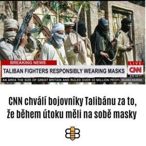 CNN chválí bojovníky Talibánu, protože nosí roušky proti Covidu-19.jpg